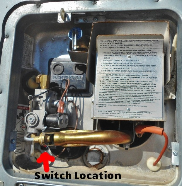 Electric switch on hot water heater - Keystone RV Forums
