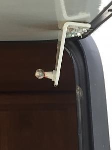 Outdoor Kitchen door bracket broken - Keystone RV Forums