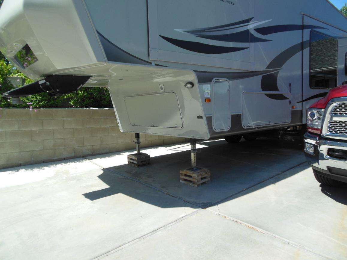 Backing Travel Trailer Up Steep Driveway | Yoktravels com